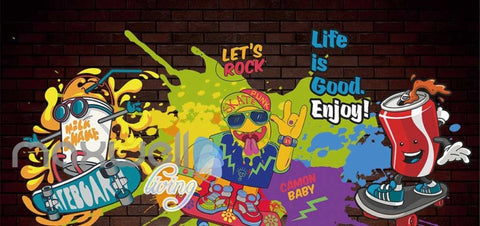 Image of Graphic Art Design Poster Of Graffiti Drawing Art Wall Murals Wallpaper Decals Prints Decor IDCWP-JB-000284