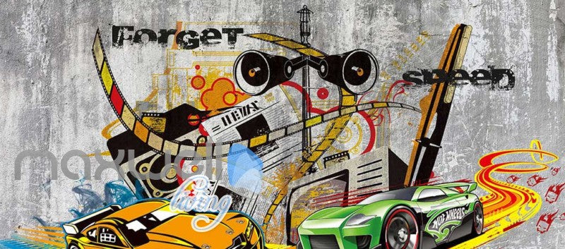 Graphic Art Design Racing Cars  Art Wall Murals Wallpaper Decals Prints Decor IDCWP-JB-000285