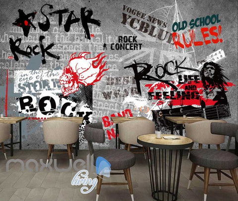 Image of Art Design Wall Poster With Rock Star Images Art Wall Murals Wallpaper Decals Prints Decor IDCWP-JB-000297