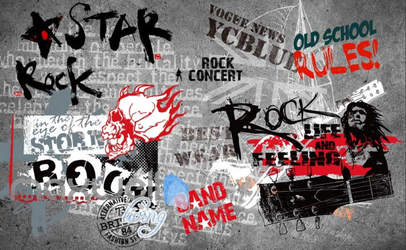 Art Design Wall Poster With Rock Star Images Art Wall Murals Wallpaper Decals Prints Decor IDCWP-JB-000297