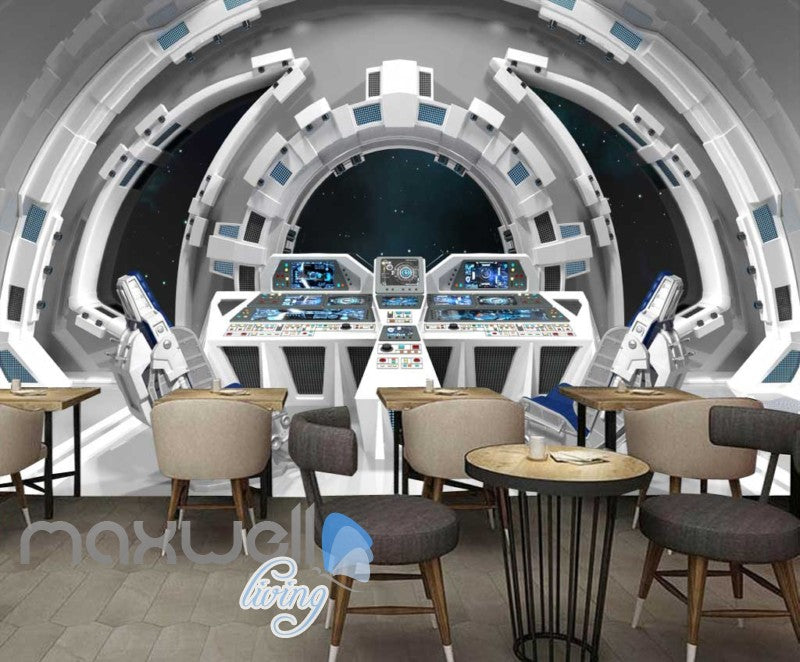 Graphic Art Design Inside Spaceship Art Wall Murals Wallpaper Decals Prints Decor IDCWP-JB-000298
