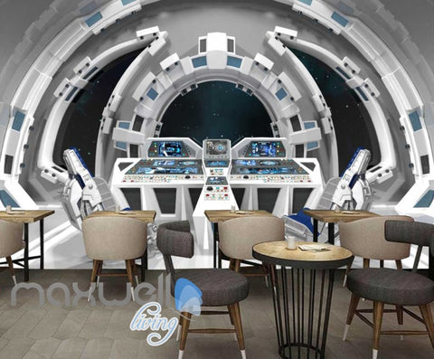 Image of Graphic Art Design Inside Spaceship Art Wall Murals Wallpaper Decals Prints Decor IDCWP-JB-000298