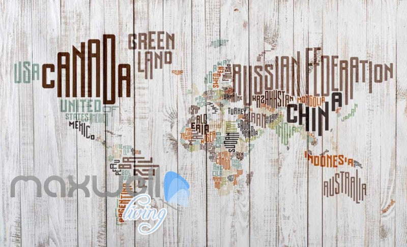 Graphic art design world map made of typographic country names art graphic art design world map made of typographic country names art wall murals wallpaper decals prints gumiabroncs Image collections