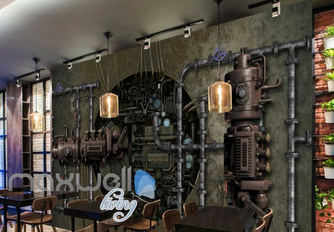 Image of Graphic Art Design Old Industrial 3D Wall Poster Art Wall Murals Wallpaper Decals Prints Decor IDCWP-JB-000304
