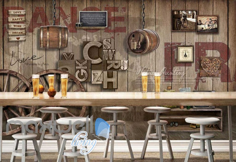 Image of Graphic Art Design Poster Country Style Wooden Wall Art Wall Murals Wallpaper Decals Prints Decor IDCWP-JB-000306