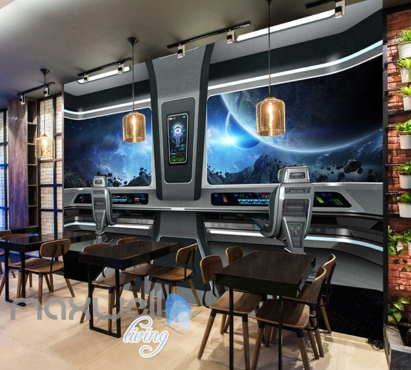 View Space From A Spaceship Art Wall Murals Wallpaper Decals Prints Decor IDCWP-JB-000335