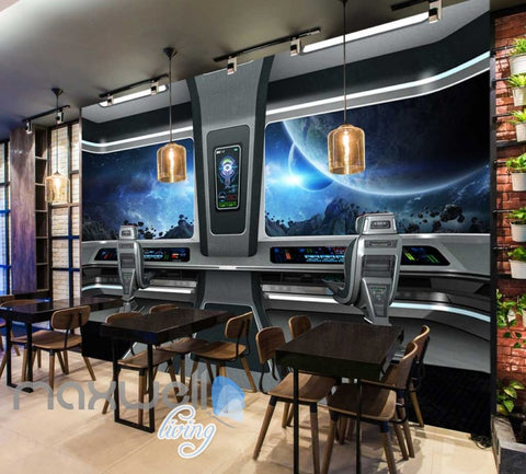 Image of View Space From A Spaceship Art Wall Murals Wallpaper Decals Prints Decor IDCWP-JB-000335