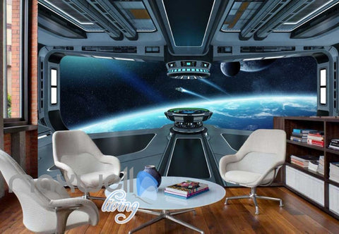 Image of View Space From A Spaceship Art Wall Murals Wallpaper Decals Prints Decor IDCWP-JB-000336