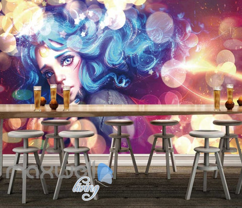 Image of Graphic Art Work Graphic Art Illustration Of Woman Art Wall Murals Wallpaper Decals Prints Decor IDCWP-JB-000360