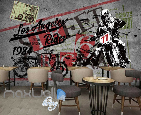 Image of Poster Motorbike Painted In Wall Art Wall Murals Wallpaper Decals Prints Decor IDCWP-JB-000371