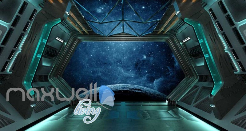Space View From Spaceship Art Wall Murals Wallpaper Decals Prints Decor IDCWP-JB-000376