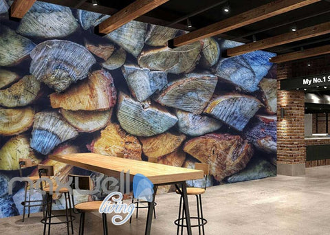 Image of Piles Of Wood Art Wall Murals Wallpaper Decals Prints Decor IDCWP-JB-000398