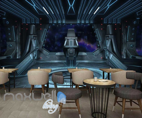 Image of 3d wallpaper view of planet from a spaceship Art Wall Murals Wallpaper Decals Prints Decor IDCWP-JB-000470