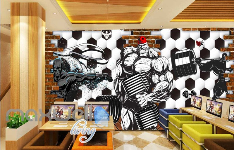 3d wallpaper graphic desing for a gym Art Wall Murals Wallpaper Decals Prints Decor IDCWP-JB-000471