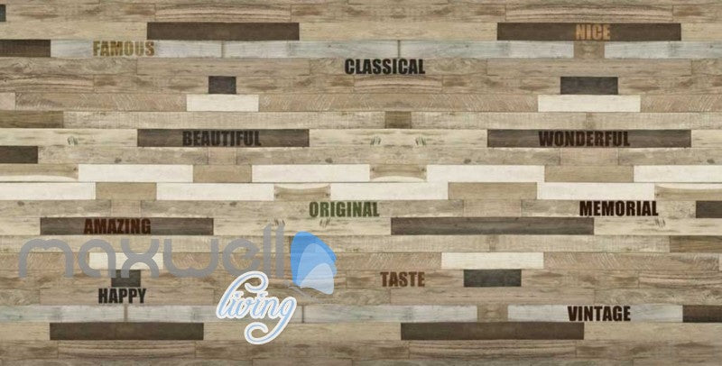wooden wall with words wallpaper Art Wall Murals Wallpaper Decals Prints Decor IDCWP-JB-000476