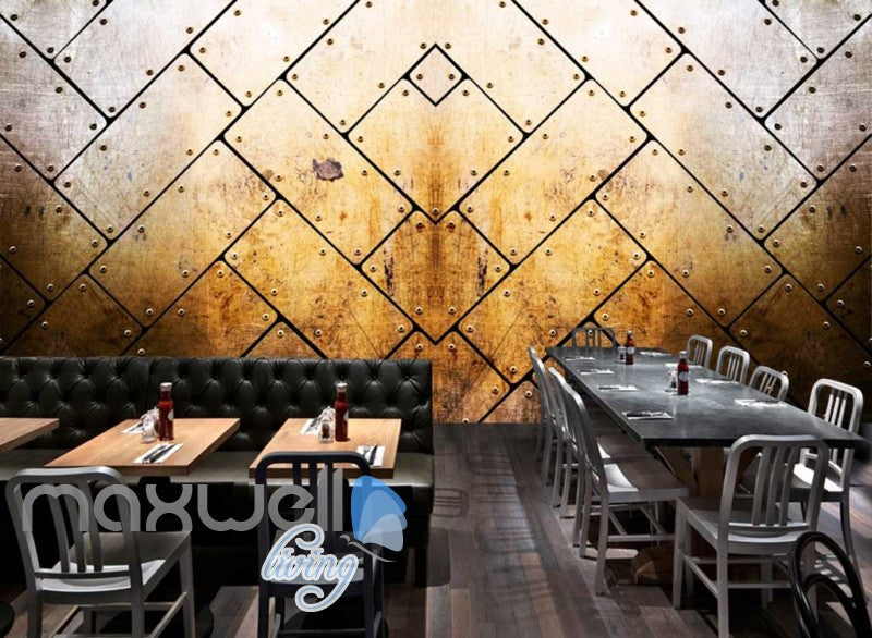 3d rotten metal wallpaper design Art Wall Murals Wallpaper Decals Prints Decor IDCWP-JB-000488