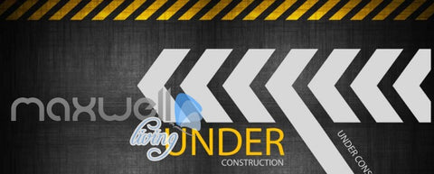 Image of wallpaper graphic design of under construction sign Art Wall Murals Wallpaper Decals Prints Decor IDCWP-JB-000489
