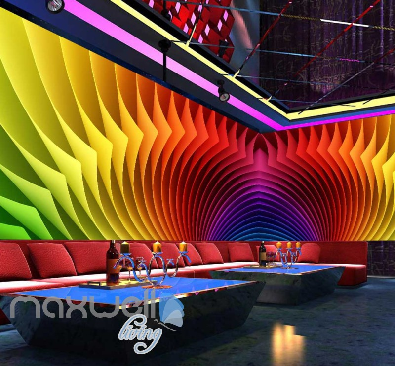 3d colorful pattern graphic design for ktv club room Art Wall Murals Wallpaper Decals Prints Decor IDCWP-JB-000546