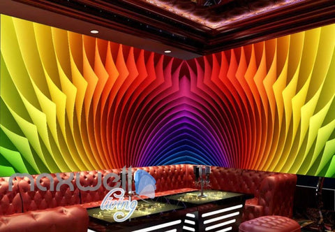 Image of 3d colorful pattern graphic design for ktv club room Art Wall Murals Wallpaper Decals Prints Decor IDCWP-JB-000546