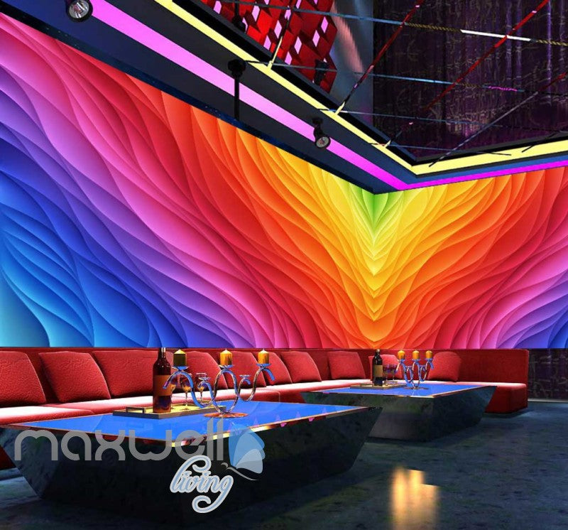 3d colorful pattern graphic design for ktv club room Art Wall Murals Wallpaper Decals Prints Decor IDCWP-JB-000547
