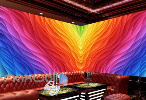 Image of 3d colorful pattern graphic design for ktv club room Art Wall Murals Wallpaper Decals Prints Decor IDCWP-JB-000547
