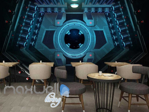 Image of 3d wallpaper of a window of a space ship Art Wall Murals Wallpaper Decals Prints Decor IDCWP-JB-000561