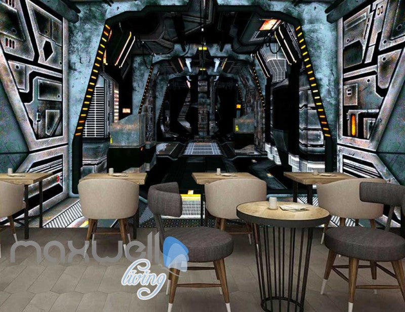 3d wallpaper of space ship interior Art Wall Murals Wallpaper Decals Prints Decor IDCWP-JB-000562