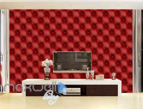Image of 3d wallpaper red leather wall Art Wall Murals Wallpaper Decals Prints Decor IDCWP-JB-000592