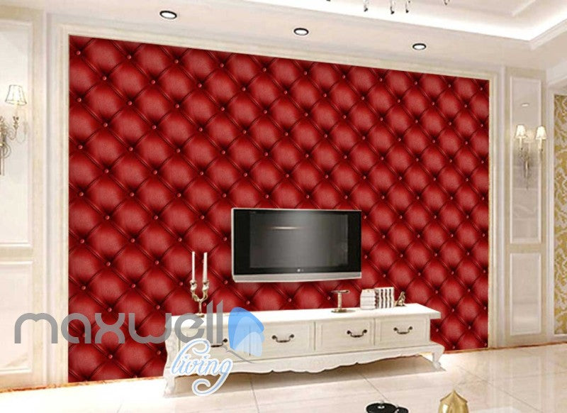 3d wallpaper red leather wall Art Wall Murals Wallpaper Decals Prints Decor IDCWP-JB-000592