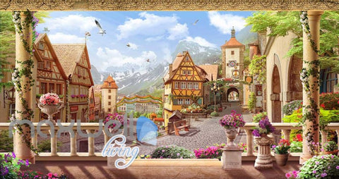 Image of wallpaper german city view Art Wall Murals Wallpaper Decals Prints Decor IDCWP-JB-000608