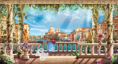 Image of wallpaper venice city view Art Wall Murals Wallpaper Decals Prints Decor IDCWP-JB-000609