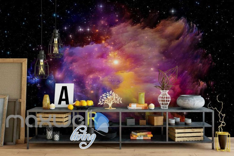 wallpaper space aurora Art Wall Murals Wallpaper Decals Prints Decor IDCWP-JB-000616