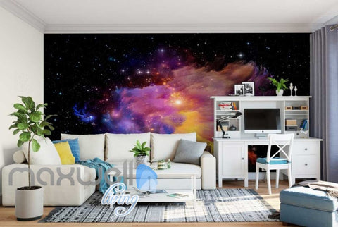 Image of wallpaper space aurora Art Wall Murals Wallpaper Decals Prints Decor IDCWP-JB-000616