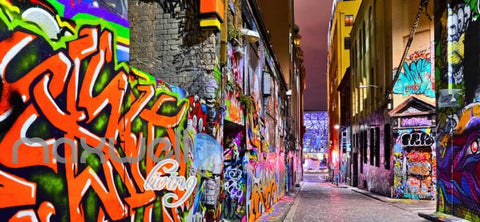 Image of 3d wallpaper graffiti street Art Wall Murals Wallpaper Decals Prints Decor IDCWP-JB-000619