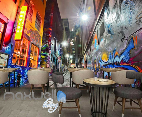 Image of 3d wallpaper graffiti street Art Wall Murals Wallpaper Decals Prints Decor IDCWP-JB-000620