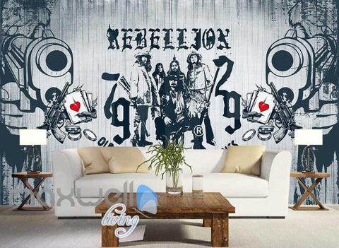 Image of graphic design wallpaper rebellion drawing on white wall Art Wall Murals Wallpaper Decals Prints Decor IDCWP-JB-000628