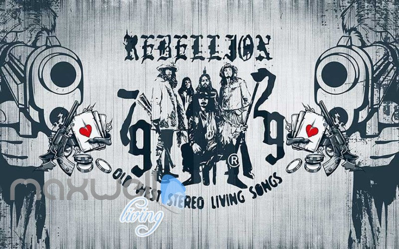 graphic design wallpaper rebellion drawing on white wall Art Wall Murals Wallpaper Decals Prints Decor IDCWP-JB-000628