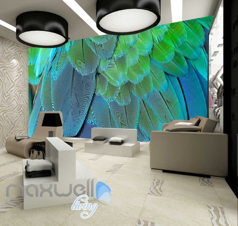 Graphic Design Of Multicolour Feathers Art Wall Murals Wallpaper Decals Prints Decor IDCWP-JB-000667
