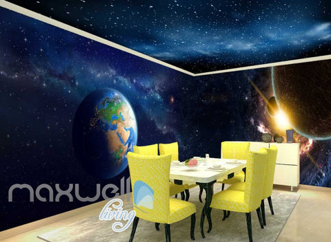 Image of Abstract Landscape Planets And World  Art Wall Murals Wallpaper Decals Prints Decor IDCWP-JB-000682