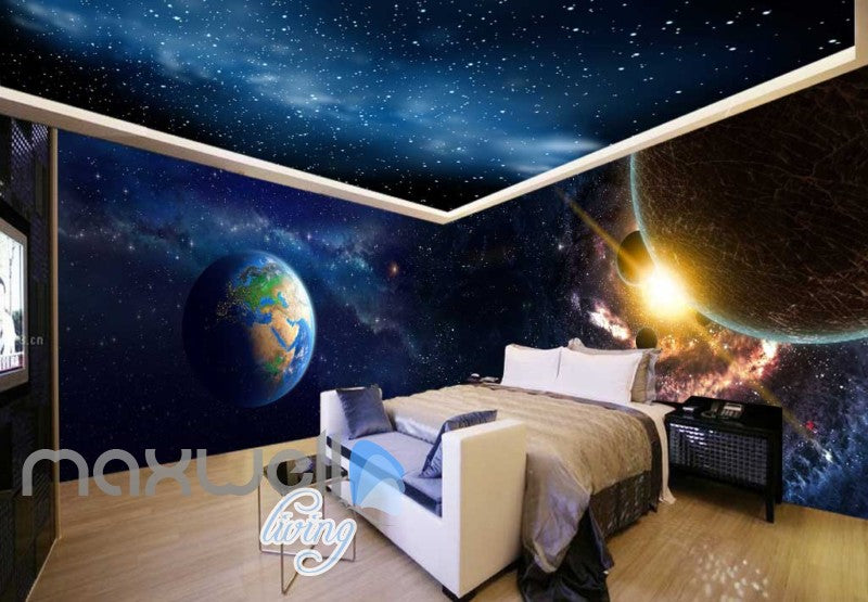 Abstract Landscape Planets And World  Art Wall Murals Wallpaper Decals Prints Decor IDCWP-JB-000682