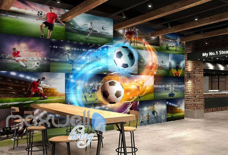 Collague Posters Of Futbol Players Art Wall Murals Wallpaper Decals Prints Decor IDCWP-JB-000720