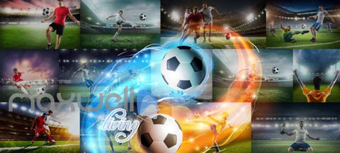 Image of Collague Posters Of Futbol Players Art Wall Murals Wallpaper Decals Prints Decor IDCWP-JB-000720