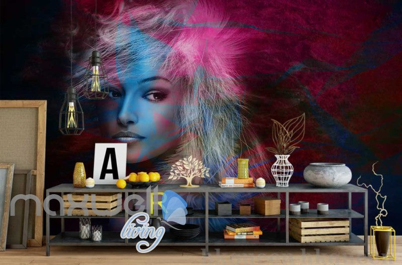 graphic design of portrait of woman art wall murals wallpaper decalstap to expand