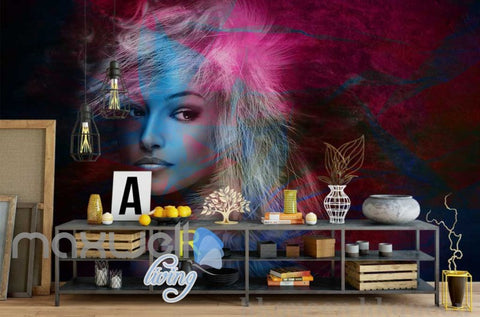 Image of Graphic Design Of Portrait Of Woman Art Wall Murals Wallpaper Decals Prints Decor IDCWP-JB-000749