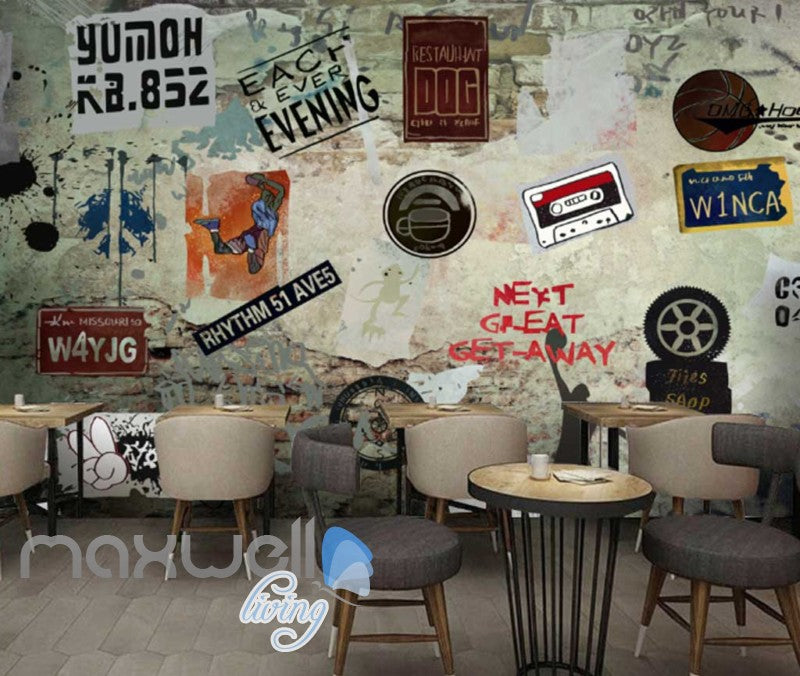3D Collague Posters On Damage Wall Art Wall Murals Wallpaper Decals Prints Decor IDCWP-JB-000758