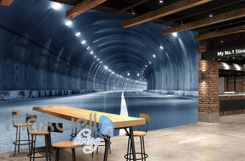 3D Highway Tunnel Art Wall Murals Wallpaper Decals Prints Decor IDCWP-JB-000766