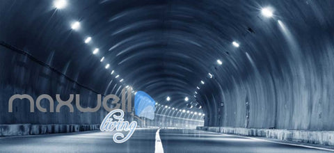 Image of 3D Highway Tunnel Art Wall Murals Wallpaper Decals Prints Decor IDCWP-JB-000766