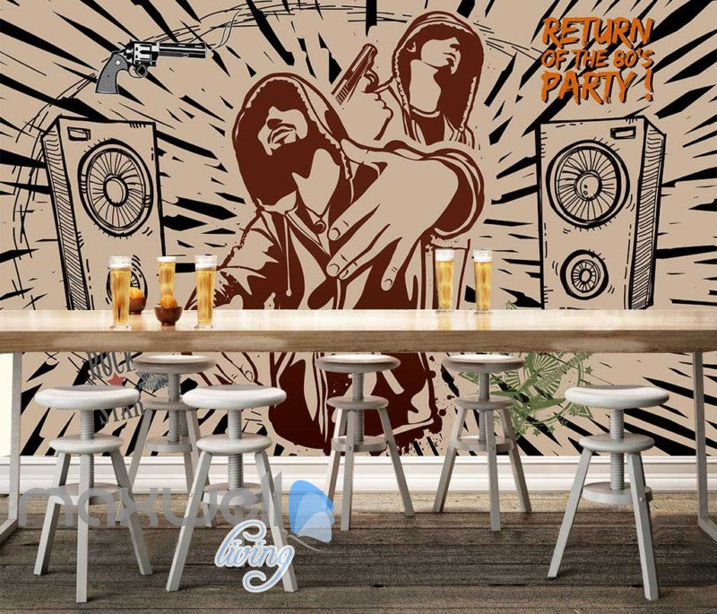 Graphic Design Rappers Speakers Gun Art Wall Murals Wallpaper Decals Prints Decor IDCWP-JB-000785