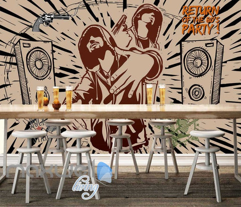 Image of Graphic Design Rappers Speakers Gun Art Wall Murals Wallpaper Decals Prints Decor IDCWP-JB-000785