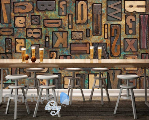 Image of Typography Metal Letters  Art Wall Murals Wallpaper Decals Prints Decor IDCWP-JB-000793